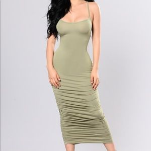 Sage - Past & Present Dress Fashion Nova